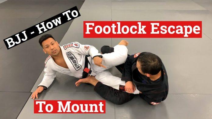 Footlock escape to mount position